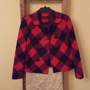 Jones New York plaid coat